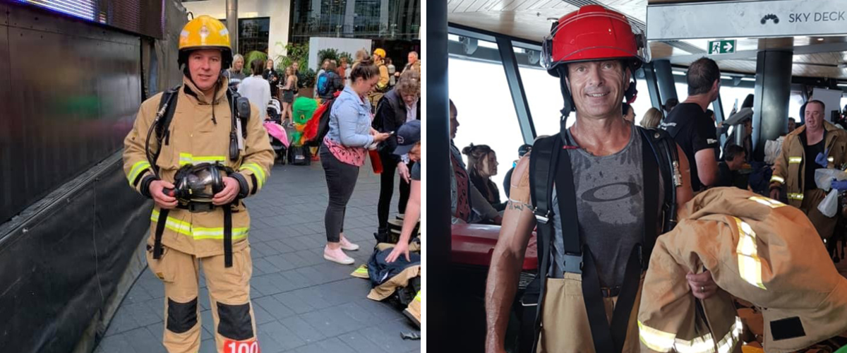 Firefighter Sky Tower Challenge no problem for Ray White strong men